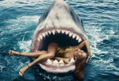 Rihanna Swims with Sharks for Harper's Bazaar