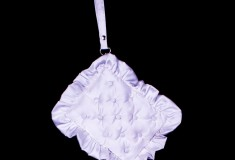 Hood by Air Empire Collection pillow clutch white